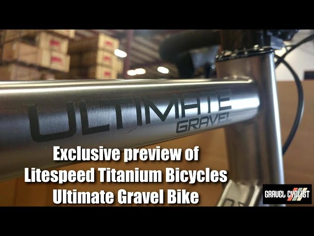 Exclusive: Litespeed's Prototype Titanium Aero Ultimate Gravel Bike!