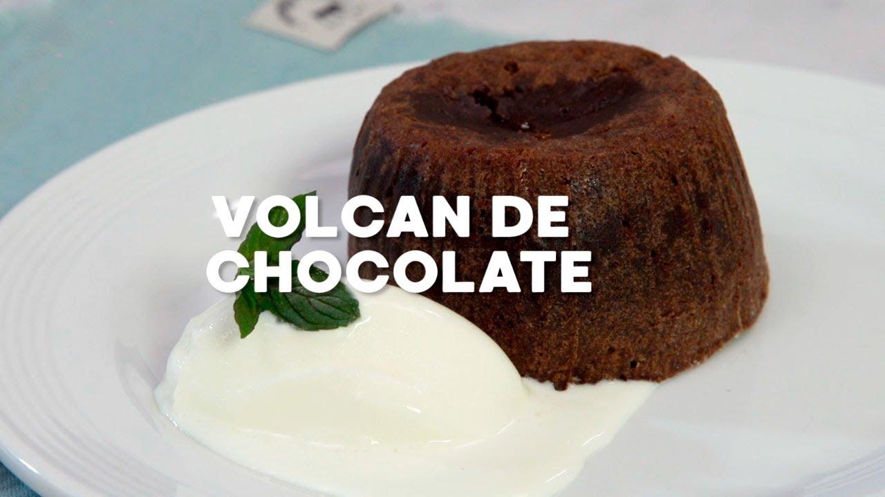 """""""Volcán de chocolate"""" ¡Delicioso para ofrecer en una cena elegante!"""