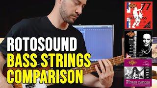 Rotosound Bass Strings Comparison