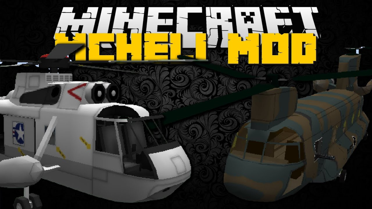 Minecraft MCHeli Mod Helicopters Planes Passenger