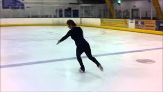 Figure Skating Progress Spin and Waltz Jump