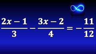 Ecuación de primer grado con fracciones, multiplicando por común múltiplo