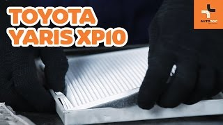 Comment changer Filtre climatisation TOYOTA YARIS (SCP1_, NLP1_, NCP1_) - video gratuit en ligne