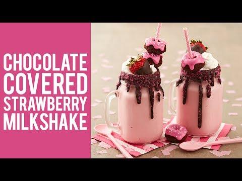 Chocolate Covered Strawberry Milkshake Recipe