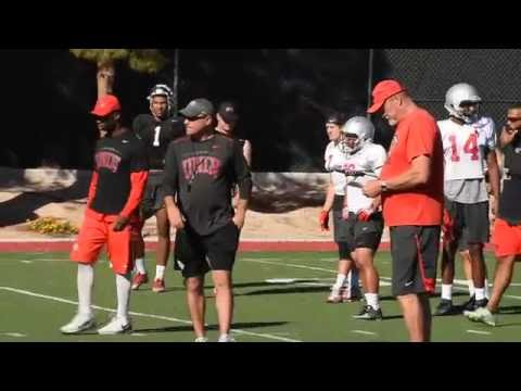 UNLV football coach Sanchez speaks about their next game in Hawaii.