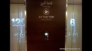 Burj Khalifa at the top, elevator Dubai 125 floor