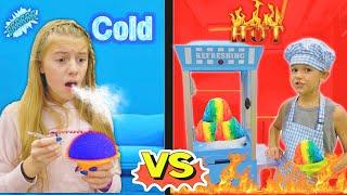 FroZen Hot vs Cold Challenge with Az & Savannah!