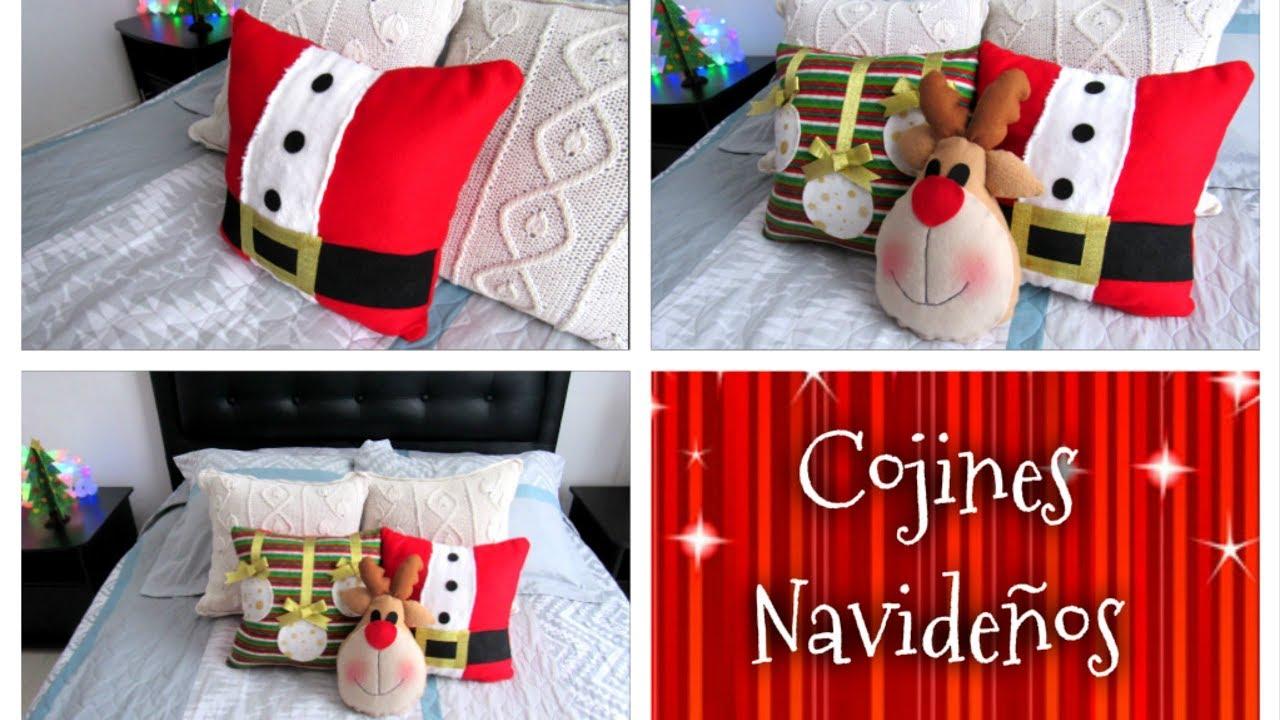 Como hacer tus propios cojines navide os especial de for Materiales para hacer adornos navidenos