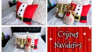 Como hacer tus propios cojines navideños (Especial de navidad)