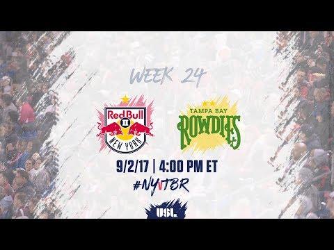 USL LIVE - New York Red Bulls II vs Tampa Bay Rowdies 9/2/17