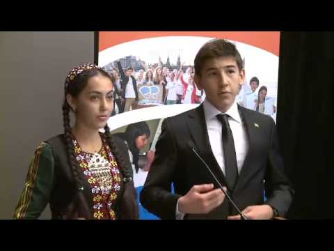 Turkmenistan children's participation at the UN Side Event on Youth Voices on Post 2015, 24Sep13