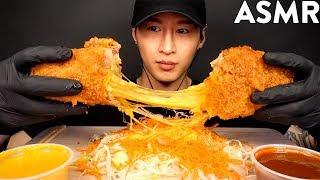 ASMR CHEESE TONKATSU MUKBANG (No Talking) EATING SOUNDS | Zach Choi ASMR