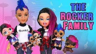 The Rocker Punk Boi Family Dressing Room Mystery ! Toys and Dolls Fun for Kids | SWTAD LOL Families