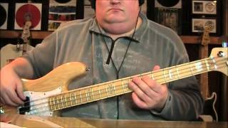 Robert Palmer Addicted to Love Bass Cover with Notes & Tablature