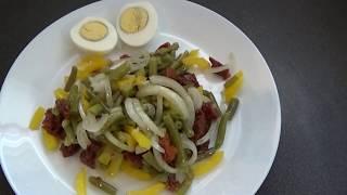 Диетический салат со стручковой фасолью