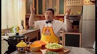 Фасоль с маринованными огурцами. Суп из кабачков и моркови. А!