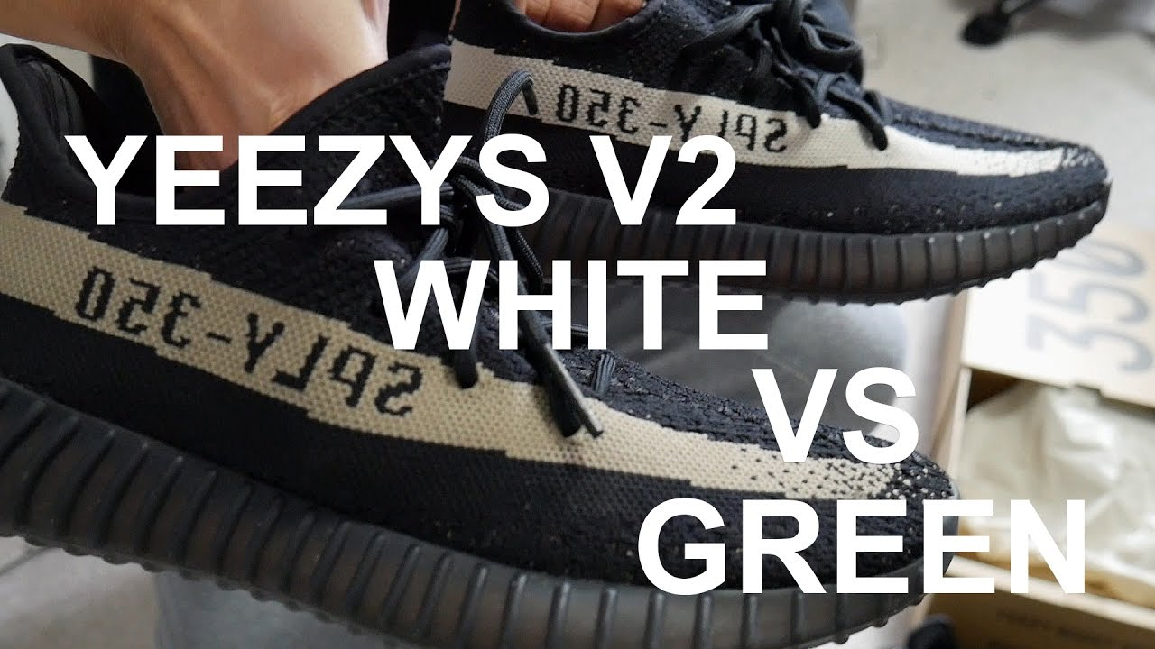 Unboxing video YEEZY Boost 350 V2 Black / Copper, Black / Green