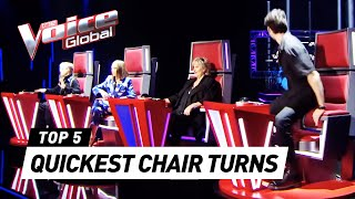 Chair Turns within 5 SECONDS on The Voice 2021 so far