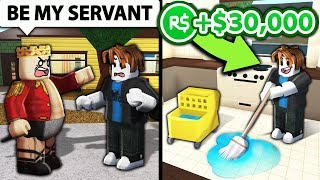 I made ROBLOX noobs RICH for being my SERVANTS!