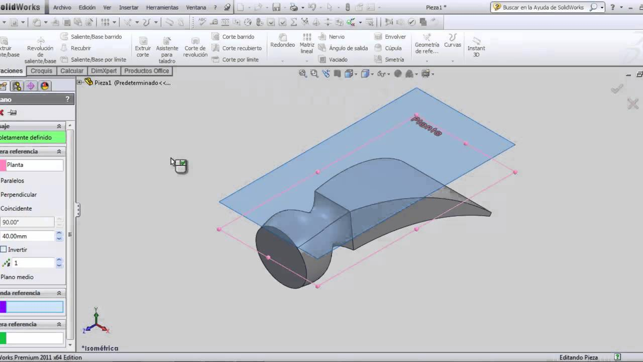 Tutorial Solidworks Martillo Recubrimiento Y Flexionar