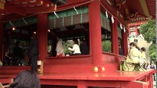 巫女さんも活躍中です。 鎌倉初代将軍源頼朝ゆかりの神社で 日本三大八...