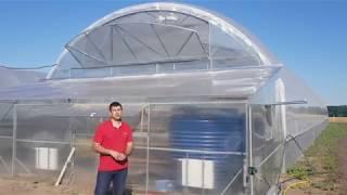 видео: Теплица для бизнеса - обзор современной фермерской теплицы  9,6х50