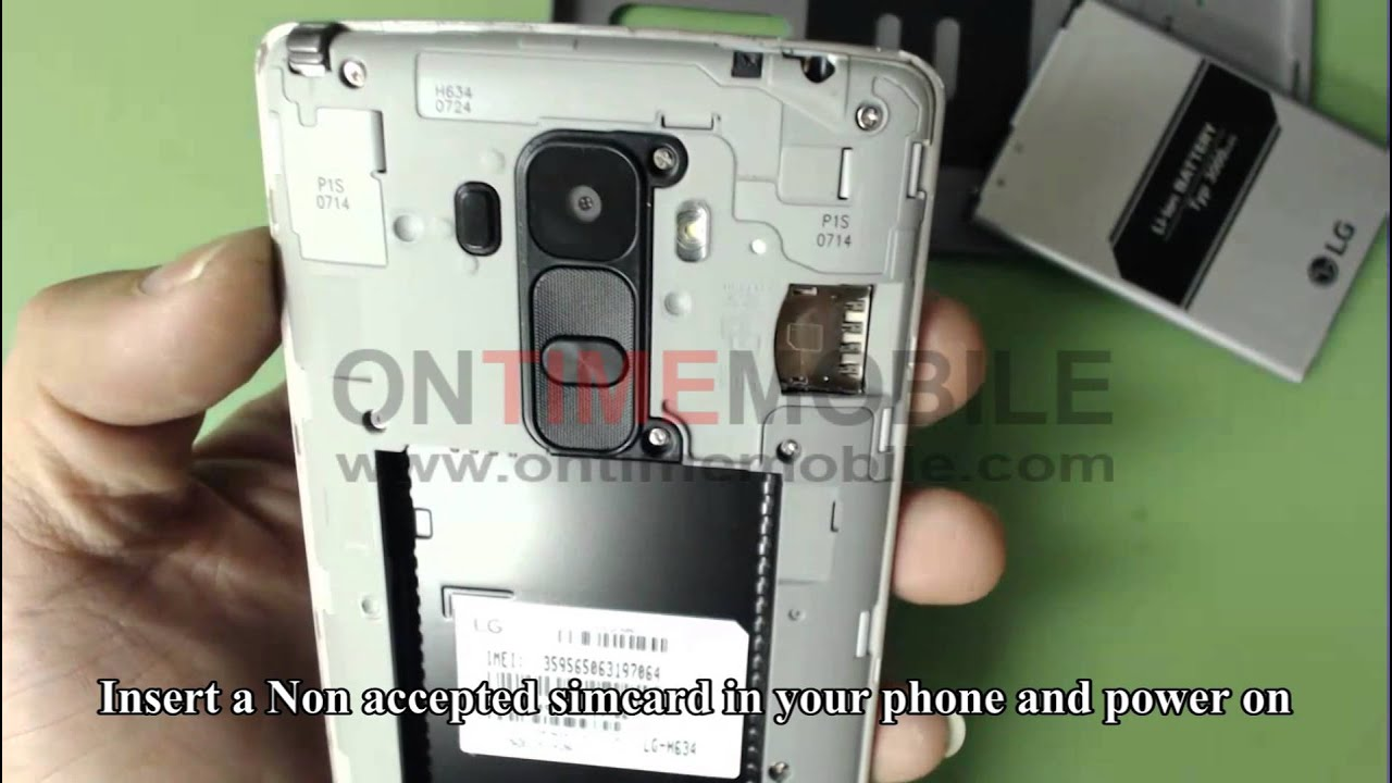 How to check IMEI and unlock LG G Stylo H634 cricket - YouTube