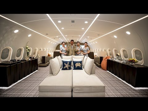 Inside The Worlds Only Private Boeing 787 Dreamliner!