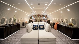 Top 10 Airlines - Inside The World's Only Private Boeing 787 Dreamliner!