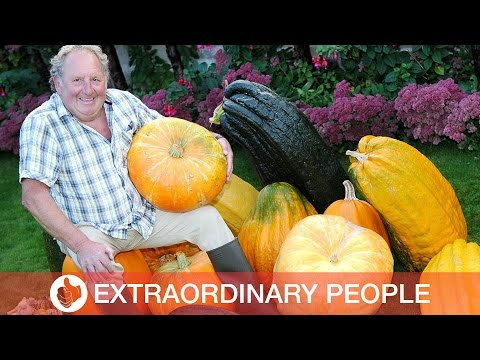 Pensioner Grows Giant Vegetables At Home