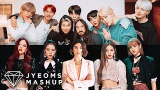 BTS, STEVE AOKI, BLACKPINK, DUA LIPA - WASTE IT ON ME X KISS &amp MAKE UP (MASHUP) [feat. ...