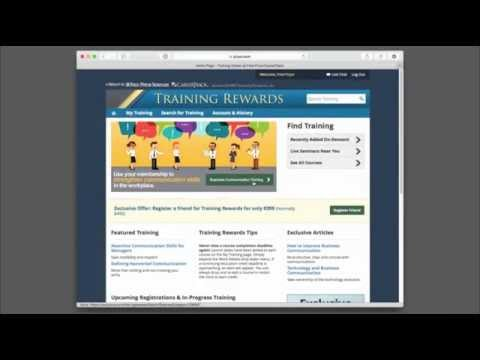 Training Rewards User Tutorial
