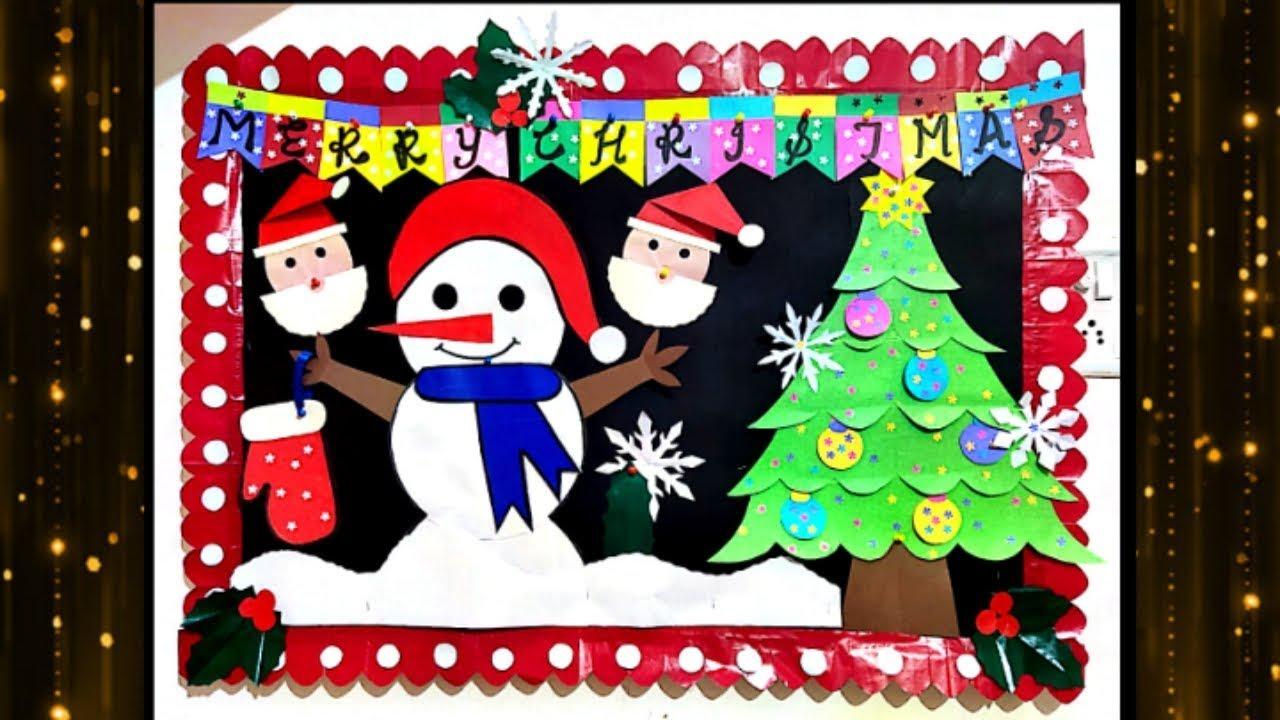 Christmas School Bulletin Board Display Idea Notice Decoration Youtube