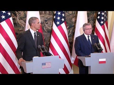 President Obama Holds a Press Conference with President Komorowski