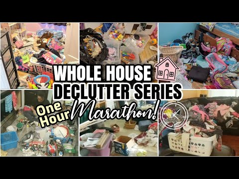 EXTREME CLEAN WITH ME | WHOLE HOUSE DECLUTTER SERIES ⏱️ ONE HOUR TIME LAPSE CLEANING MARATHON!!
