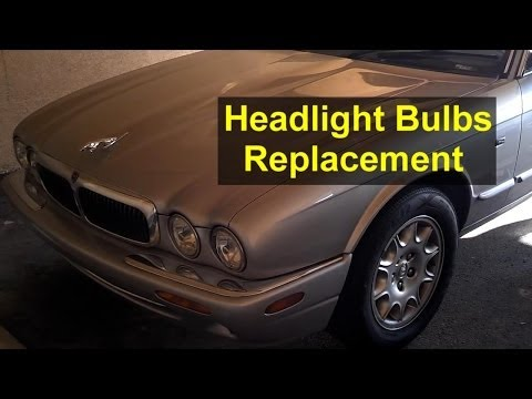 Headlight bulb replacement, Jaguar XJ8 and others cars - Auto Repair Series