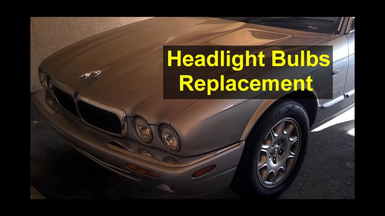 maxresdefault headlight bulb replacement, jaguar xj8 and others cars auto 3 Wire Headlight Wiring Diagram at bayanpartner.co