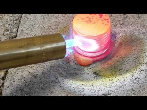 Melting Pennies with Propane Torch for Scrap Value