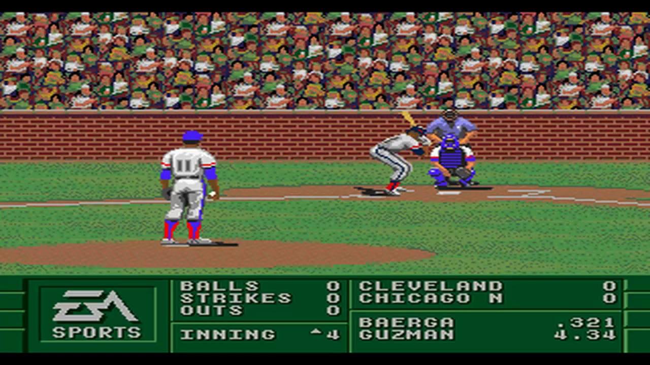 Sega Genesis Baseball Games Part 1 Chicago Nl Vs