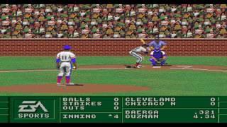 Sega Genesis Baseball Games  Part 1 : Chicago-nl Vs Cleveland