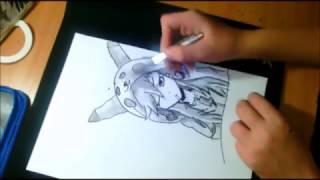 Как нарисовать покемона  в стиле анимэ девушки {How to draw pokemon  in the anime-style}