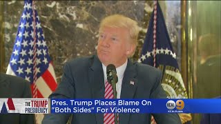 Trump Says Groups Protesting White Supremacists In Charlottesville Were