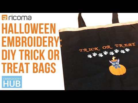 Embroidery Hub Ep. 20: Trick or Treat Bag Tutorial | Halloween Embroidery