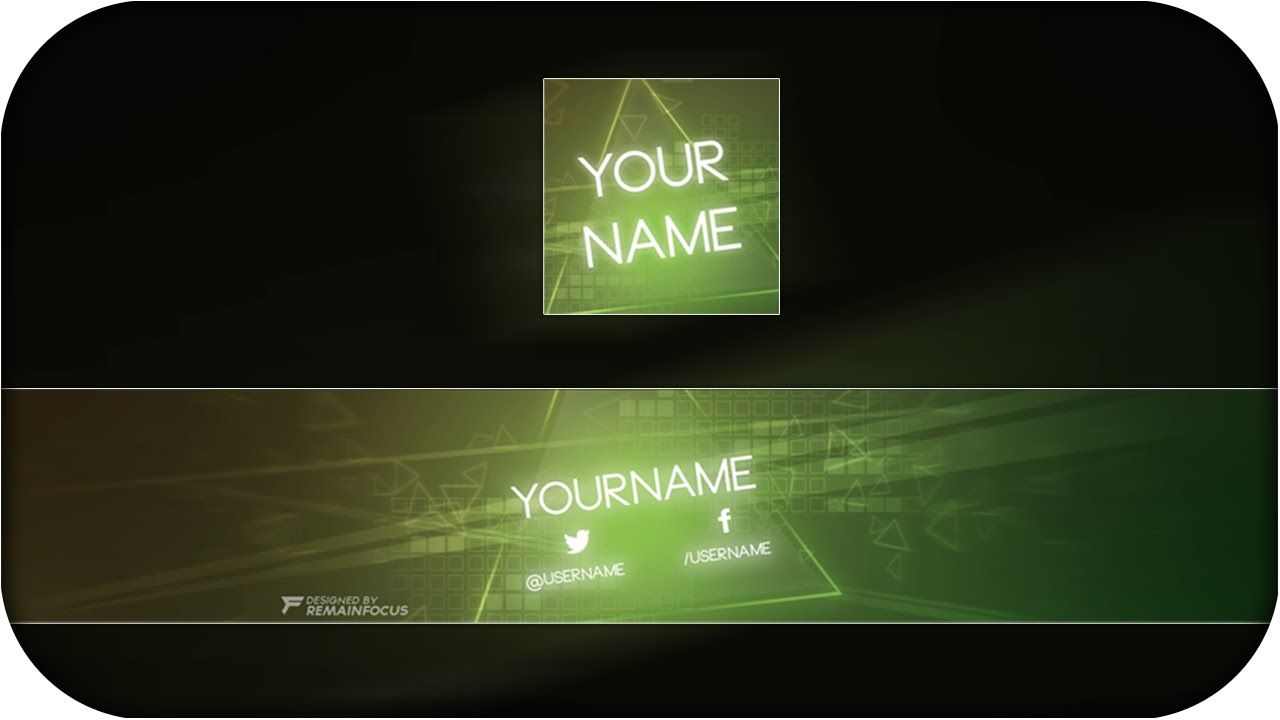 Free GFX: Abstract Youtube Banner Template PSD - Free Download - YouTube