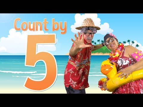 Count by 5's | Grandma and Grandpa at the Beach | Jack Hartmann