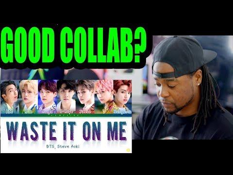 BTS (방탄소년단), Steve Aoki - Waste It On Me | REACTION!!!