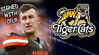 Johnny Manziel Signs With CFL!!!