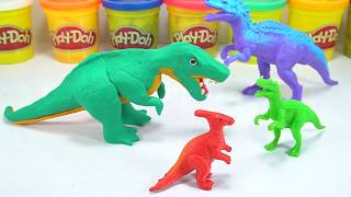 T-Rex | How to Make T Rex Dinosaur Dough Learn Colors For Kids