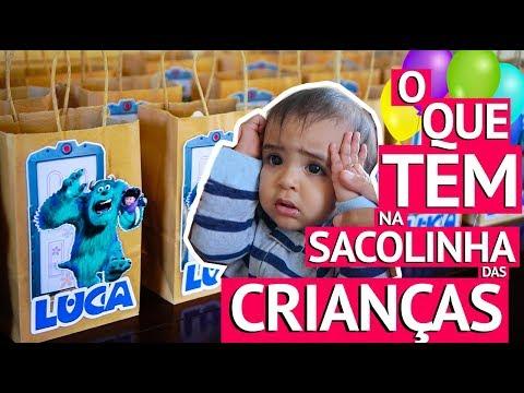 Festa de 1 ano do Luca: enchendo sacolas de presentes e preparação