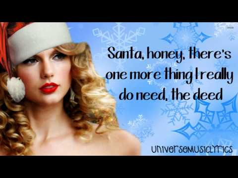 Santa Baby- Taylor Swift (Lyrics Video) HD